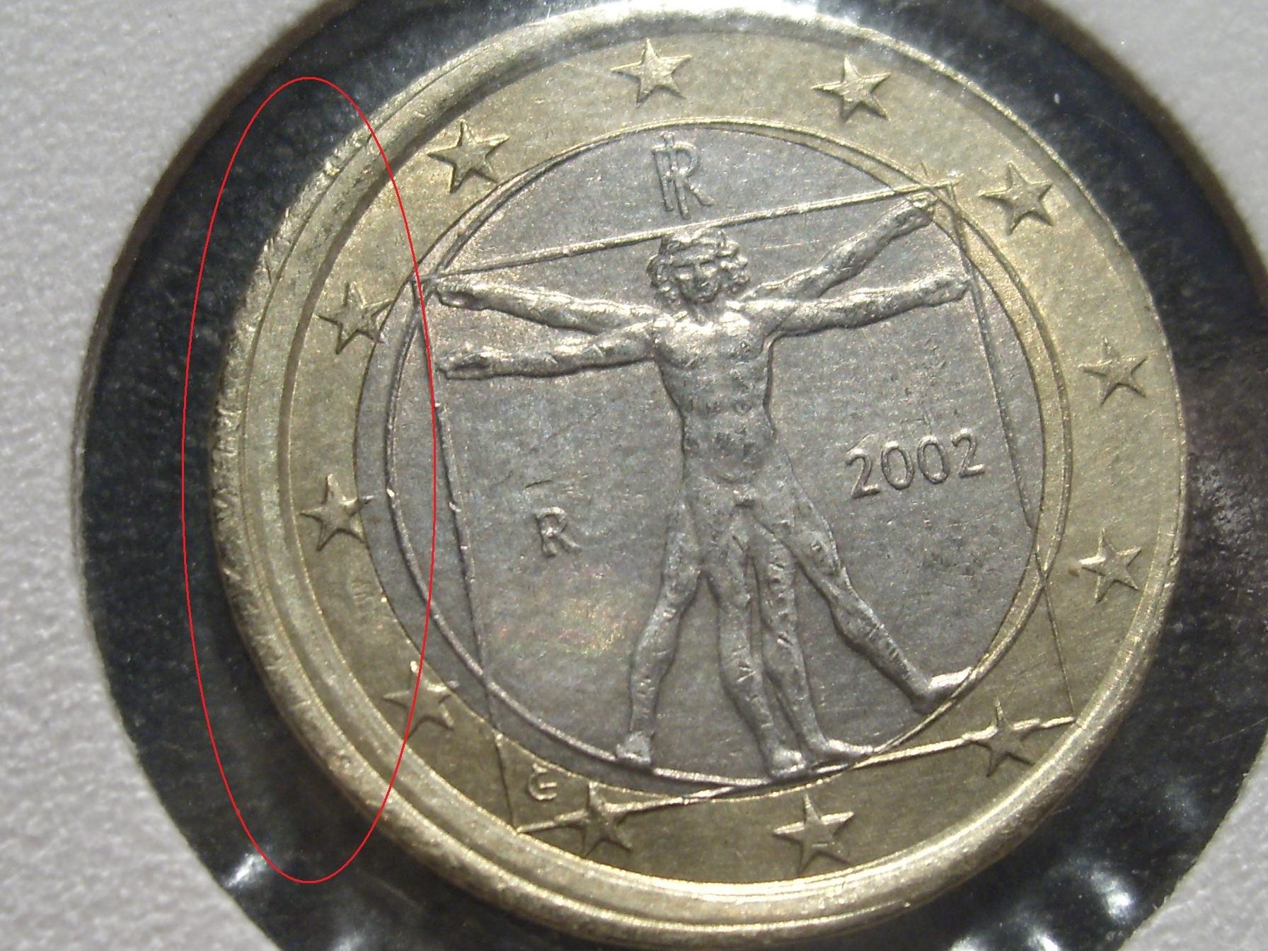 piece monnaie euro faute archive du blog 1 italie 2002. Black Bedroom Furniture Sets. Home Design Ideas